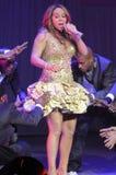 Effettuazione di Mariah Carey in tensione. immagine stock libera da diritti
