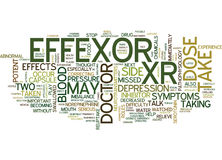 Effexor Xr Is A Potent Inhibitor Word Cloud Concept Stock Photos