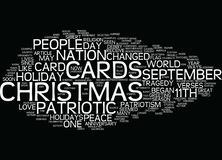 The Efffect Of September Th On Christmas Cards Text Background  Word Cloud Concept Stock Photos