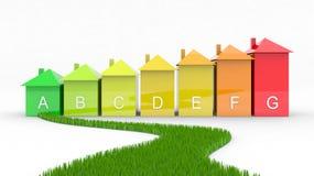 Efficacité énergétique avec la voie verte illustration de vecteur