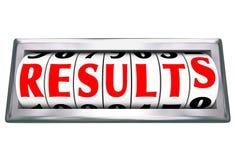 Efficacité de mesure de productivité de résultats de Word de résultats Photographie stock