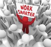Efficacité de productivité de signe plus futé de mots de travail une meilleure illustration libre de droits