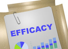 Efficacy - performance concept. 3D illustration of EFFICACY title on business document Stock Image