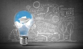 Efficiënte innovaties voor de wereldecologie Stock Foto