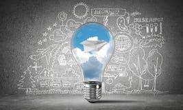 Efficiënte innovaties voor de wereldecologie Stock Foto's