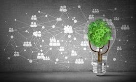 Efficiënte innovaties voor wereldecologie Stock Foto