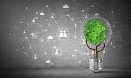 Efficiënte innovaties voor wereldecologie Stock Afbeelding