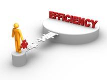 Efficiency. 3D rendered bridge to the efficiency Royalty Free Stock Photo