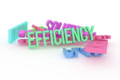 Efficiency, business conceptual colorful 3D rendered words. Web, backdrop, rendering & typography. Efficiency, business conceptual colorful 3D rendered words vector illustration