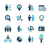 Efficiency and Business Strategies // Azure Series Royalty Free Stock Image