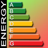 Efficiency classes. An illustration for efficiency classes label Stock Photo