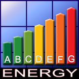 Efficiency classes. An illustration for efficiency classes label Royalty Free Stock Photo