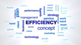 Efficiency concept business management quality strategy technology performance success professional efficient animated royalty free illustration