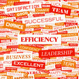 EFFICIENCY. Concept illustration. Graphic tag collection. Wordcloud collage Royalty Free Stock Photography