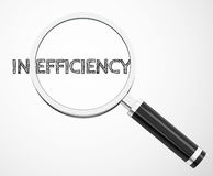 In-efficiency. 3d generated picture of an in-efficiency concept Royalty Free Stock Photography