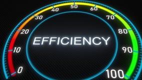 Efficiency futuristic meter or indicator. Conceptual 3D rendering. Futuristic meter conceptual 3D rendering royalty free illustration