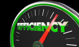 Efficiency Gauge Level Great Effective Results Stock Photos
