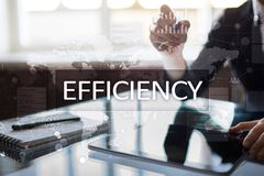 Efficiency Growth concept. Business and technology. Virtual screen. Efficiency Growth concept. Business and technology. Virtual screen Royalty Free Stock Photography