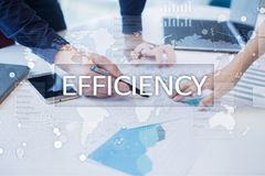 Efficiency Growth concept. Business and technology. Virtual screen. Efficiency Growth concept. Business and technology. Virtual screen Stock Photo