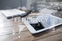 Efficiency Growth concept. Business and technology. Virtual screen. Efficiency Growth concept. Business and technology. Virtual screen Stock Image