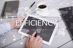Efficiency Growth concept. Business and technology. Virtual screen. Efficiency Growth concept. Business and technology. Virtual screen Stock Photos