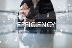 Efficiency Growth concept. Business and technology. Virtual screen. Efficiency Growth concept. Business and technology. Virtual screen Royalty Free Stock Image