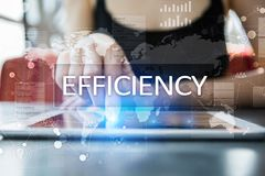 Efficiency Growth concept. Business and technology. Virtual screen. Efficiency Growth concept. Business and technology. Virtual screen royalty free stock images
