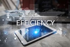 Efficiency Growth concept. Business and technology. Virtual screen. Efficiency Growth concept. Business and technology. Virtual screen stock photography