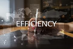 Efficiency Growth concept. Business and technology. Virtual screen. Efficiency Growth concept. Business and technology. Virtual screen Royalty Free Stock Photo