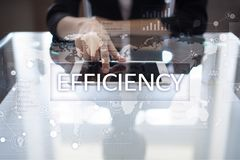 Efficiency Growth concept. Business and technology. Virtual screen. Efficiency Growth concept. Business and technology. Virtual screen Stock Images