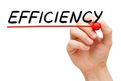 Efficiency Handwritten With Black Marker stock image