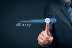 Efficiency increase. Manager (businessman, coach, leadership) plan to increase efficiency Stock Image