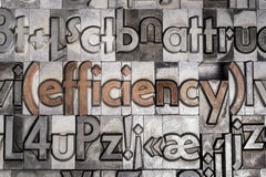Efficiency with movable type printing Royalty Free Stock Photography