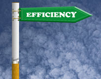 Efficiency road sign Stock Image
