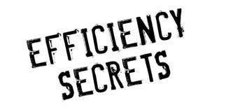 Efficiency Secrets rubber stamp Stock Photos