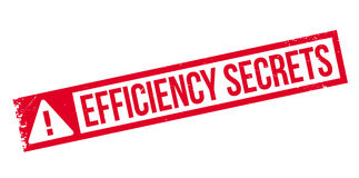 Efficiency Secrets rubber stamp Royalty Free Stock Images