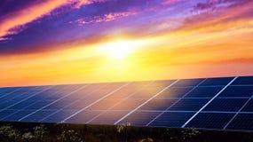 Efficiency of use of energy, Environmentally safe renewable energy. Panels of solar batteries. Panels of solar batteries. Modern panels of solar batteries. Solar stock photo