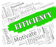 Efficiency Words Indicates Improve Effectiveness And Improvement Stock Image