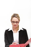 Efficient businesswoman taking notes Royalty Free Stock Photo