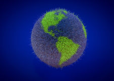 Efficient Energy Globe Map for save the world environment Stock Photo
