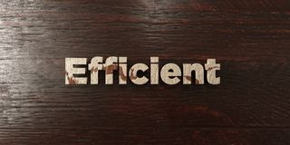 Efficient - grungy wooden headline on Maple  - 3D rendered royalty free stock image. Efficient - grungy wooden headline on Maple - 3D rendered royalty free stock royalty free illustration