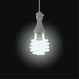 Efficient light. Illustration of efficient fluorescent light bulb Stock Image