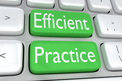 Efficient Practice concept Stock Photo
