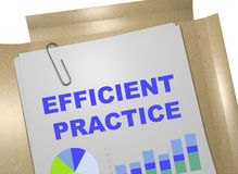 Efficient Practice concept Stock Photography