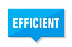 Efficient price tag. Efficient blue square price tag Royalty Free Stock Photography