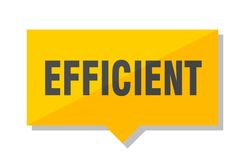 Efficient price tag. Efficient yellow square price tag Royalty Free Stock Photography