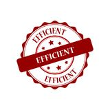 Efficient stamp illustration Royalty Free Stock Image