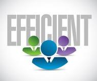Efficient team sign illustration design graphic Royalty Free Stock Image