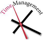 Efficient time management clock work. Time clock measure time management personal or business efficiency stock illustration