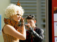 Effie Trinket from The Hunger Games cosplay Royalty Free Stock Photos